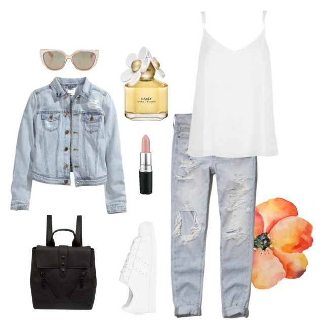 Off duty by iyafries on Polyvore featuring River Island, H&M, Abercrombie & Fitch, adidas Originals, Kenzo, Jimmy Choo, Marc Jacobs and MAC Cosmetics