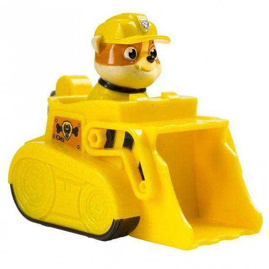 Paw Patrol Rescue Racers - Rubble Bulldozer - 10 cm