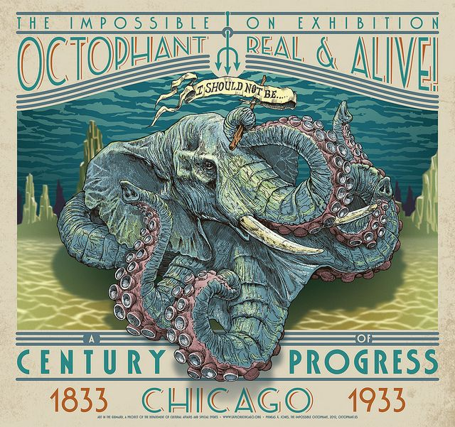 The Impossible Octophant by PhineasX, via Flickr (I love this whole design - the typography & colors are awesome!)