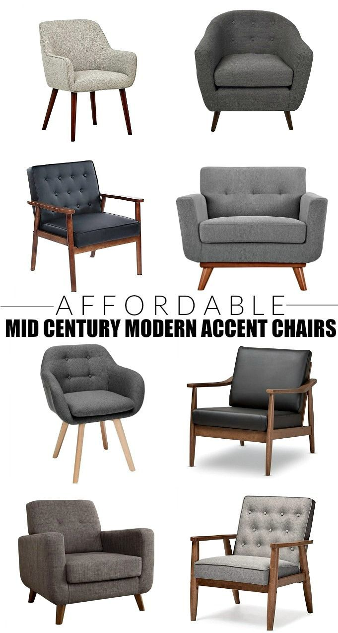Stylish And Budget Friendly Mid Century Modern Accent Chairs Mid