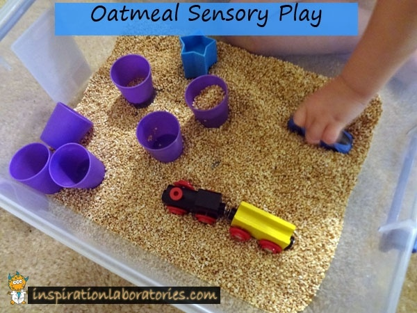 Oatmeal Sensory Play: Sensory Tables, Steel Cut Oats, For Kids, Findings Stuff, The Oatmeal, Oatmeal Sensory, Plays Ideas, Baby, Sensory Plays