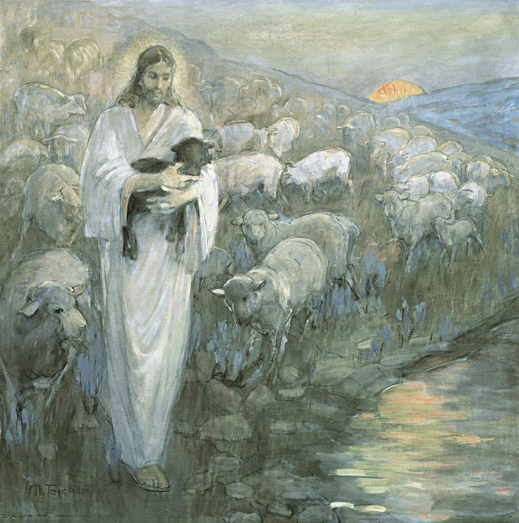 Rescue of the Lost Lamb by Minerva Teichert