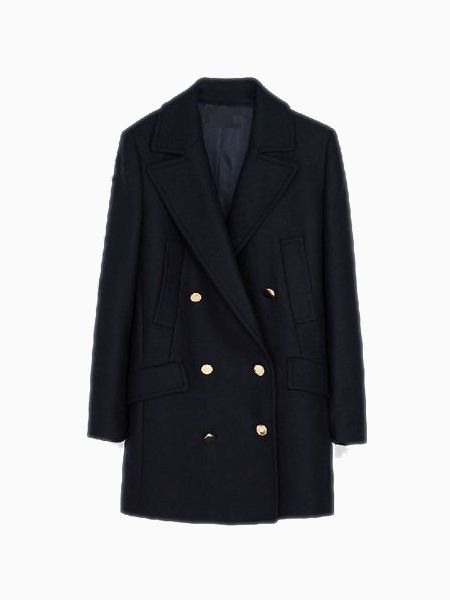Limited Edition Military Coat In Black