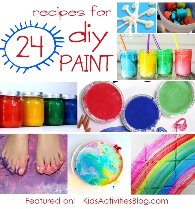 24 Paint Recipes to Make with Kids!