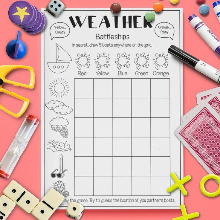 10 besten ESL Kids \'Weather\' Vocabulary Games Bilder auf Pinterest