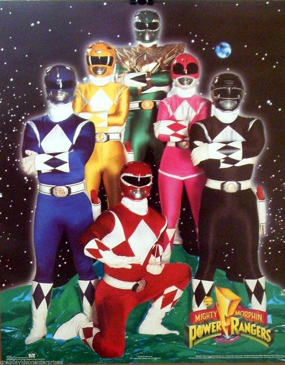 Mighty Morphin Power Rangers 16x20 Cast Poster Original