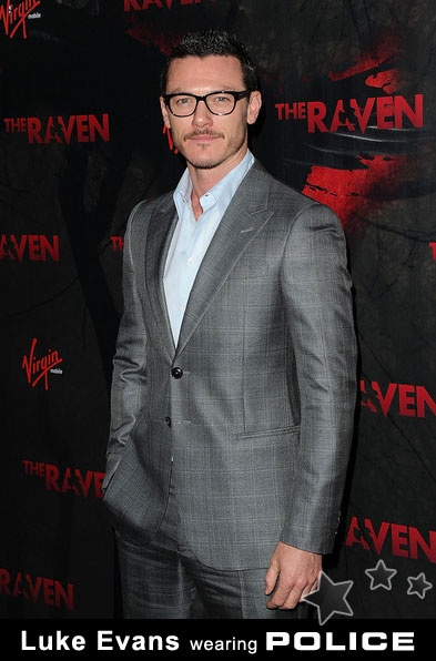 """Luke Evans wearing Police at the Los Angeles premiere of  """"The Raven"""""""