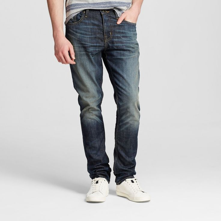 Men's Slim Jeans Dark Vintage Wash - Mossimo Supply Co.