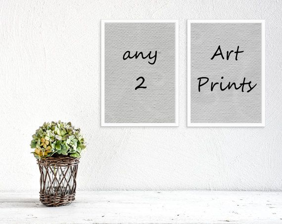 Any 2 art prints, pick your 2 art prints, Watercolor prints, Art prints, kitchen art, nursery decor, wild life, botanical prints, fine art