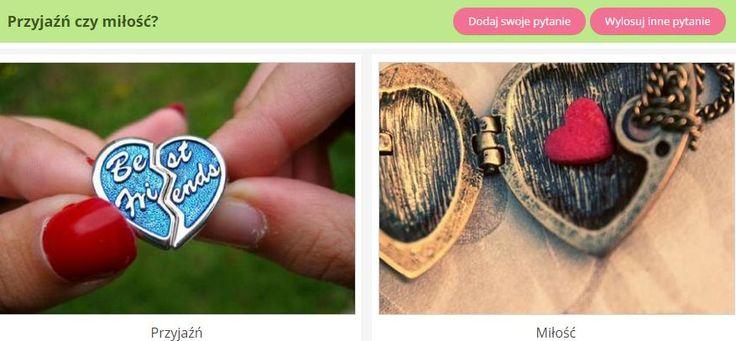 Wolisz przyjaźń czy miłość? :) Odpowiedz na to i masę innych pytań na ubieranka.pl! http://www.ubieranka.pl/quizy/co-wolisz.html #ubieranka #quiz #miłość