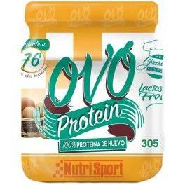 OVO Protein es un preparado en polvo a base de clara de huevo y vitamina B6, bajo en grasa y fácil de preparar. Es ideal para enriquecer la dieta del deportista con proteínas de elevada biodisponibilidad.