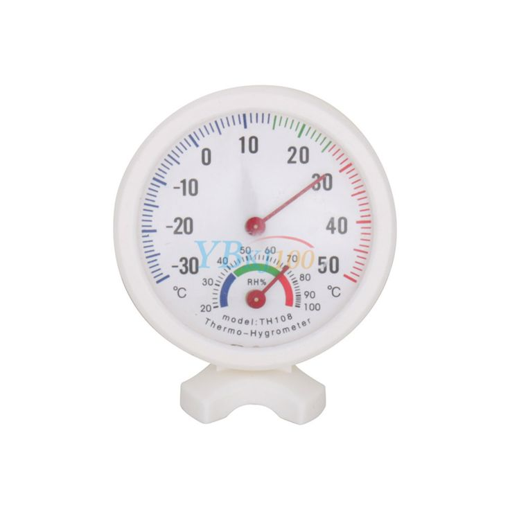 White Round Digital Invernadero Thermometer Hygrometer Indoor Centigrade Greenhouse Thermometer Hygrometer For Greenhouses