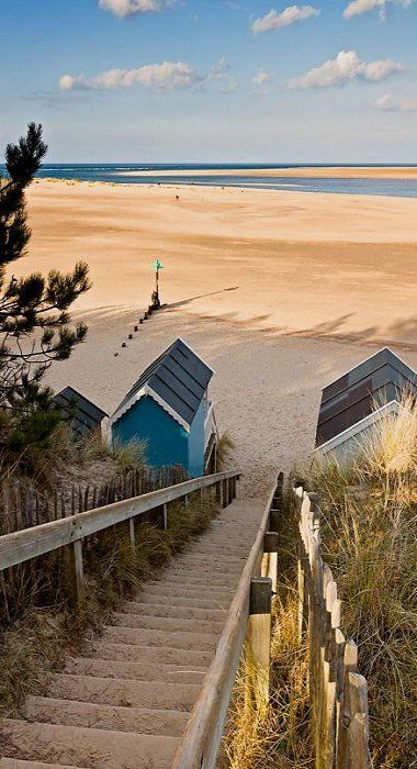 Down to the Beach.. Wells, Norfolk, UK. 19 of the best beaches in Europe: http://www.europealacarte.co.uk/blog/2011/03/28/best-beaches-europ/