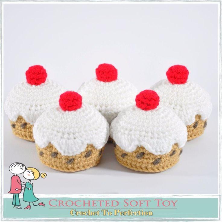 5 Currant Buns In A Bakers Shop Crochet Toys Nursery Rhyme Hand Knitted Toy Bun