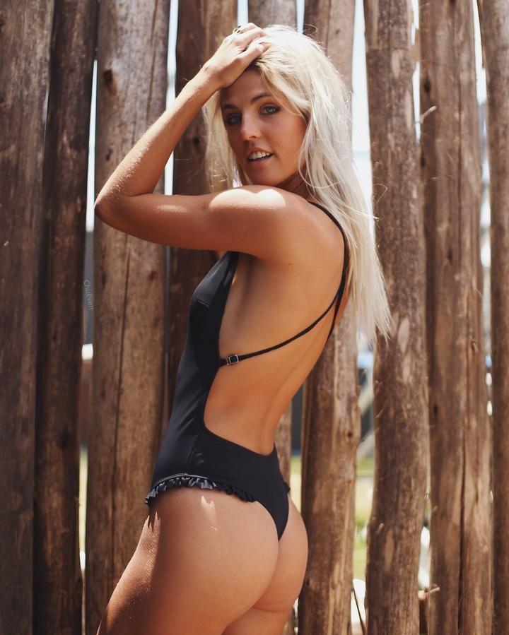 1138e571a Fara Backless Ruffled Monokini in 2019   Bikinis   One piece swimsuit,  Women's one piece swimsuits, Halter one piece swimsuit