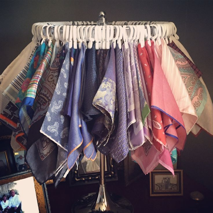 what a perfect way for my favorite client to display his colorful pocket squares