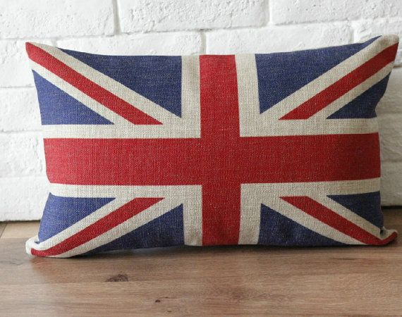 On Sale Sherlock Cushion Linen Cotton Vintage Retro Union