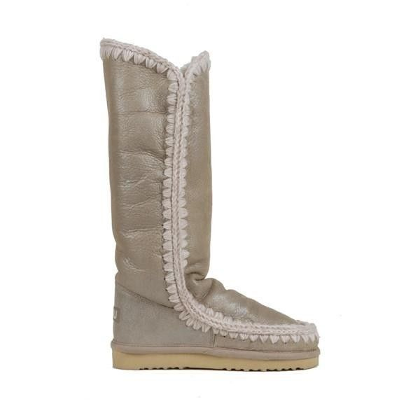 Mou Tall Eskimo Boots Women Stone Metallic - MOU Christmas Day Deals (339€->254.25€) AVAILABLE NOW! #christmas #ChristmasSale #christmasdeals