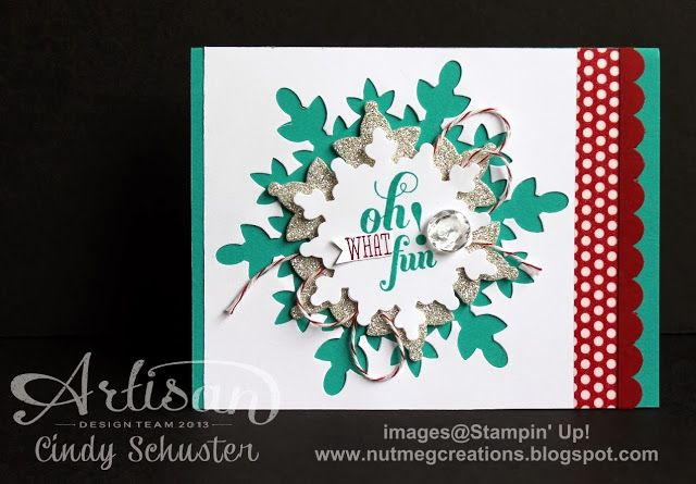 Great Holiday CardChristmas Cards, Gift Boxes, Nutmeg Creations, Festivals Flurry, Holiday Cards, Artisan Wednesday, Stampinup Cards, Su Holiday, Fun Cards