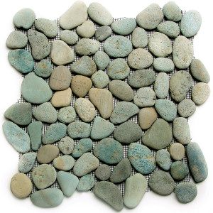 Green Pebble Tile Shower Pan Picture