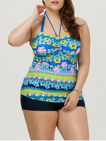 GET $50 NOW | Join RoseGal: Get YOUR $50 NOW!http://m.rosegal.com/plus-size-siwmwear/halter-floral-plus-size-tankini-1063349.html?seid=8396230rg1063349