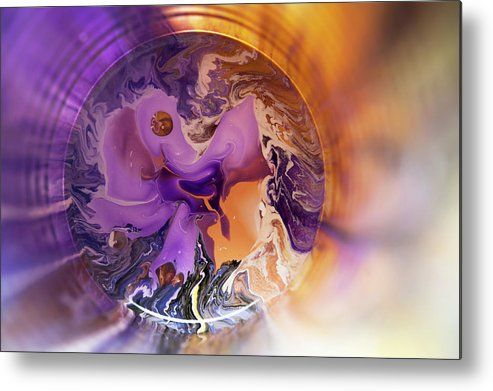 Funnel Of Time Metal Print by Jenny Rainbow.  All metal prints are professionally printed, packaged, and shipped within 3 - 4 business days and delivered ready-to-hang on your wall. Choose from multiple sizes and mounting options.