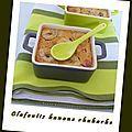 Clafoutis banane rhubarbe - Pause gourmandises