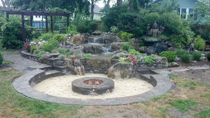 100 best images about pond water features on pinterest for Fire pit water feature combo