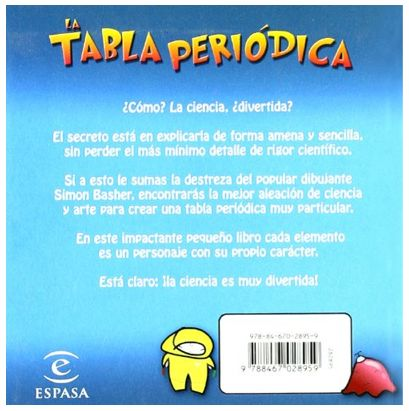 Back Cover Tabla Periodica