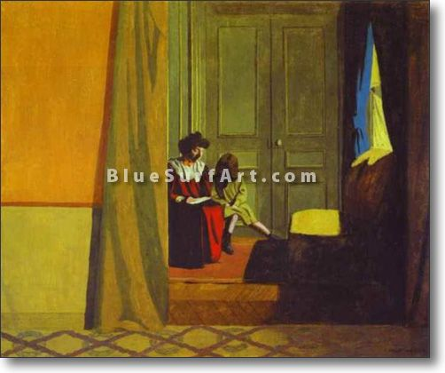Woman Reading to a Small Girl - £124.99 : Canvas Art, Oil Painting Reproduction, Art Commission, Pop Art, Canvas Painting