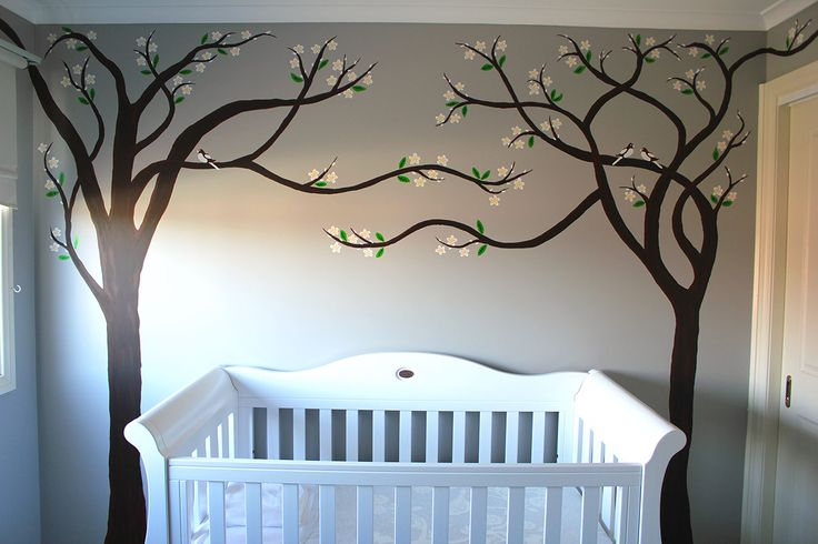 In my Nursery I made the trees reach over & shelter the babies crib.   #babyroom #babyroomideas #babyroommural #wallmural #tree #cherrytree #art #artist #artwork #australia #melbourne #instagood #instalike #interiors #painting #love  #interiordesign #architecture #decor  #modernart #design #contemporary #customart #abstractart #artforsale #bespoke #commercialart #studio #studioart #melbourneartist #nursery