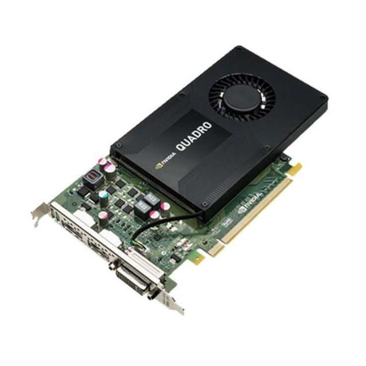 Leadtek nVidia Quadro K2200: PCIe X16 Workstation GPU, 4GB 128-Bit GDDR5, 384 CUDA Cores, Quadro Mosaic, 1x DVI-I, 2x DisplayPort 1.2, Port AdaptorsScalable geometry architecture, Hardware Tessellation, FXAA/TSAA Antialiasing, Bindless Textures, Shader Model 5.0 (OpenGL 4.4 and DirectX 11), Up to 16K x 16K Texture/RenderTransparent Multisampling/Supersampling, 16x Angle independent AF, 32-bit FP Texture filter/blend, Dedicated H.264 Encoder