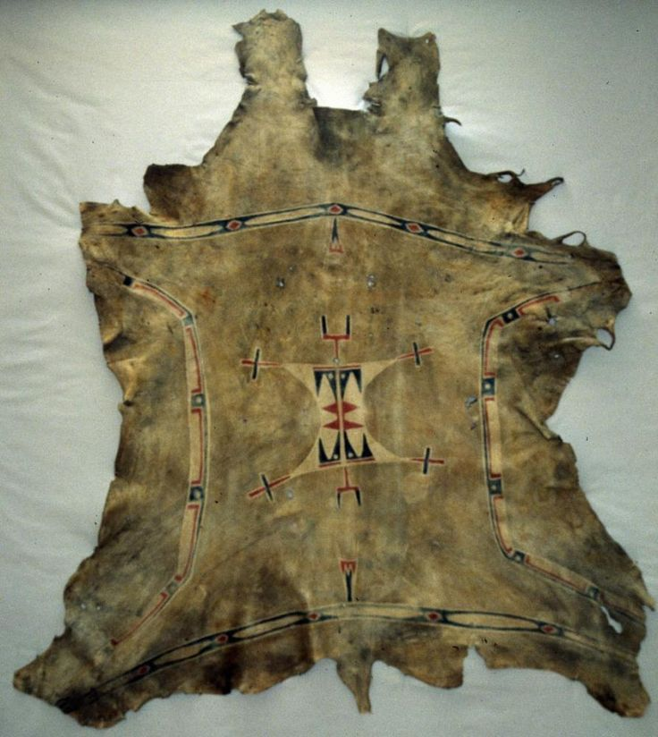 Painted Comanche Hide, From The Mid Nineteenth Century