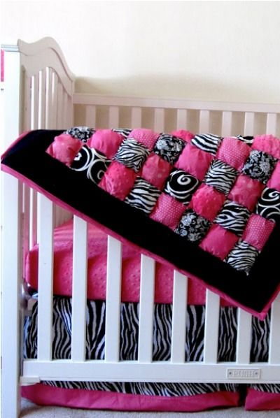 Whip up a super fluffy DIY baby quilt to match any nursery decor.
