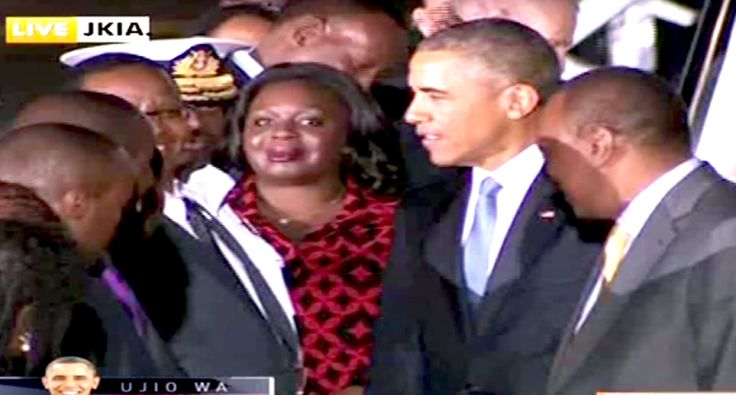 Conservative news site freaks out over 'demon' appearance in video of Obama's Kenya visit
