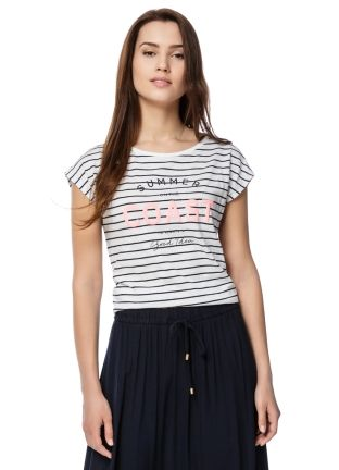 Buy STRIPED BOAT-NECK T-SHIRT (LT6O84) in online clothing shop O'STIN
