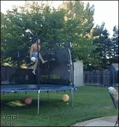 Gif ...Basketball Pool Trick Shot- COOL