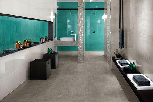 Керамическая серая плитка для ванной, большого размера
