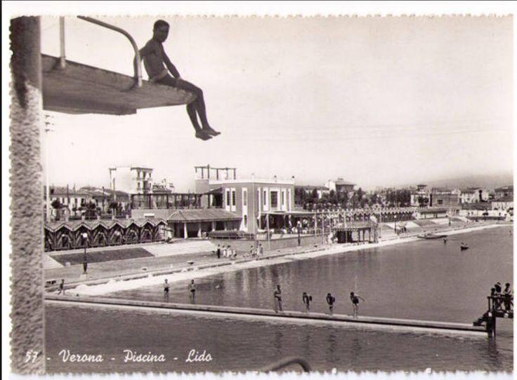 piscina Lido anni '30 nel 2019 Verona, Piscine e Cartoline