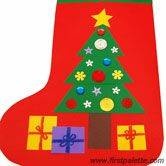 Step 8 Paper Christmas Stocking craft