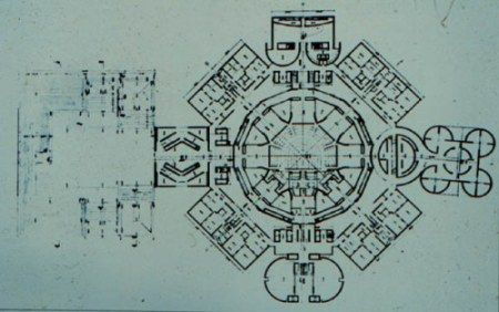 Louis Kahn architect National Assembly Building of Bangladesh  Typical floor plan