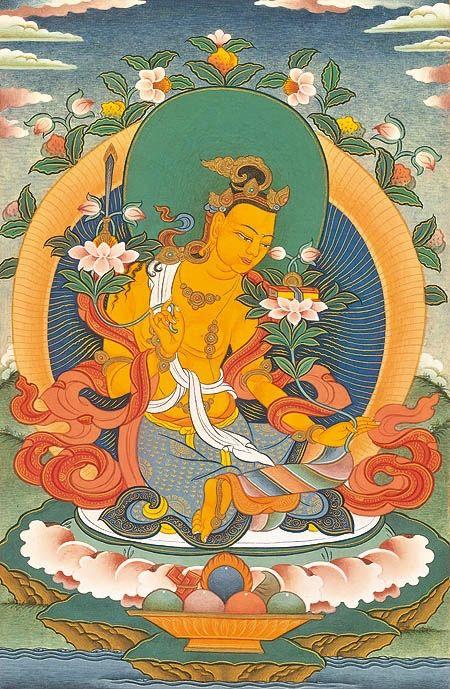 dancingdakini:  Manjushri  #Tibetan #Thangka