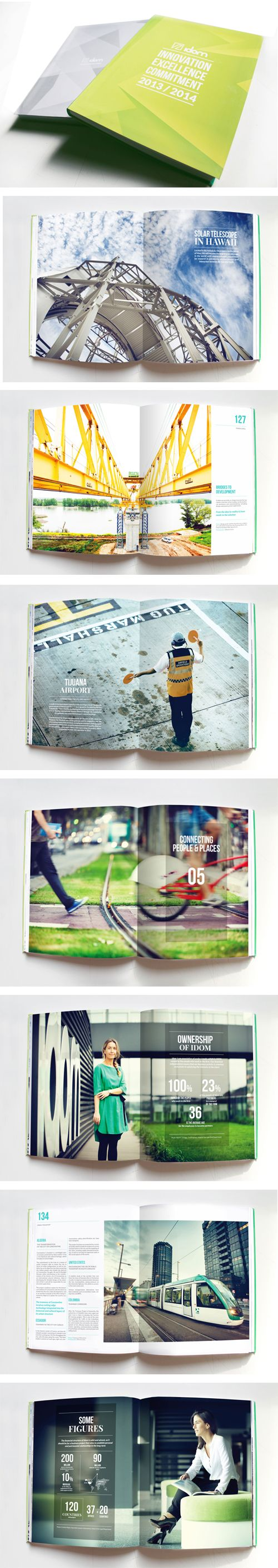 Idom Annual report 2014 designed by Muak Studio www.muak.cc/