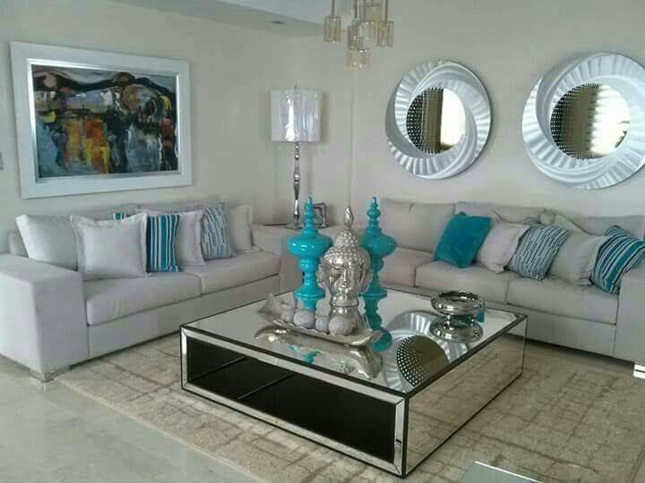 Livingroom Makeover In 2019 Living Room Turquoise Silver Living Room Living Room Decor