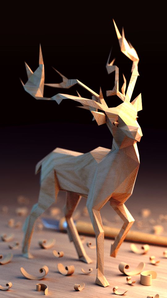 Wooden lowpoly on Behance                                                                                                                                                                                 More