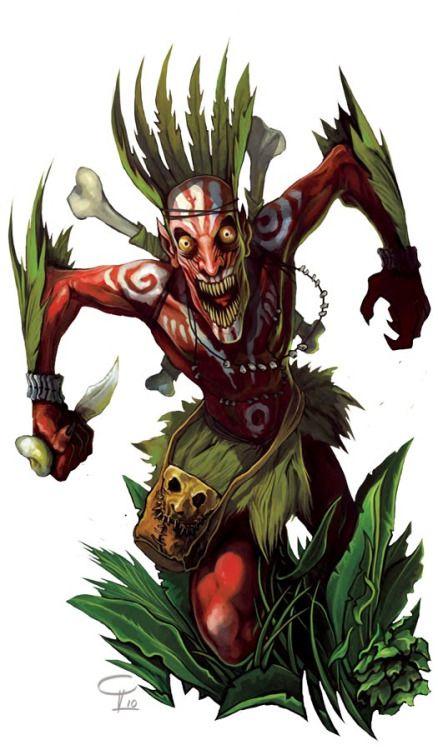 (Art by Victor P Corbella) Eloko (plural: Bikolo) Origins-Mongo tribe (Congo) Zaire Habitat- Rainforest Dwarf/trolls Eloko (pl, Biloko) is a term in a Mongo-Nkundo language referring to a kind of dwarf-like creature that lives in the forests. They...