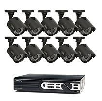 Q-See 16 Channel 720p HD Security System with 1TB Hard Drive, 10 720p Bullet Cameras, and 100' Night Vision