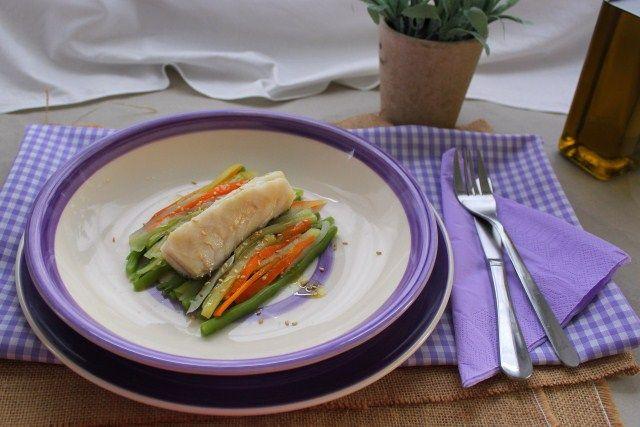 Bacalao con verduritas en Cookeo   Café Caprial