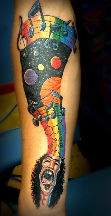 zappa tattoo. this is brilliant!: Tattoo'S Idea, Crazy Tattoo'S, Tattoo'S Inspiration, Tattoo'S Addiction, Vibrant Color, Body Art, Zappa Tattoo'S, Tattoo'S Ideen, Tattoo'S Stuff