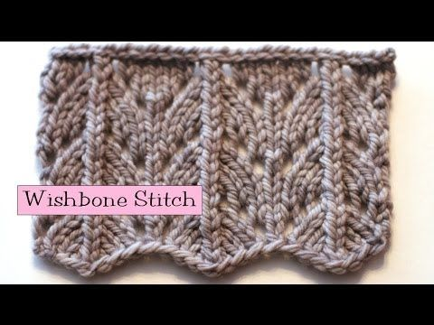 Easy Fancy Knitting Stitches : Fancy Stitch Combo - Wishbone Stitch - YouTube Knitting - patterns Pinter...